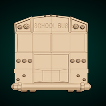 Low-Poly Cartoon School Bus - Extended License image 11