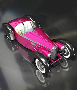 BUGATTI 57S FOR VUE 3D Models 3DClassics
