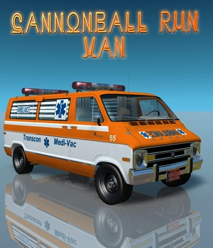 CANNONBALL RUN VAN  for Vue 3D Models 3DClassics