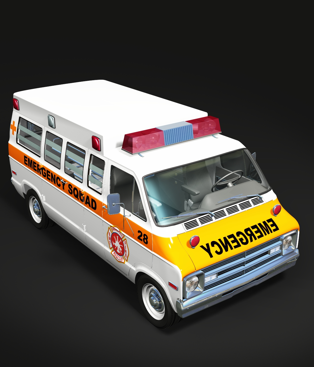 DODGE B VAN AMBULANCE FOR VUE