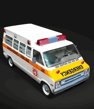 DODGE B VAN AMBULANCE FOR VUE 3D Models 3DClassics