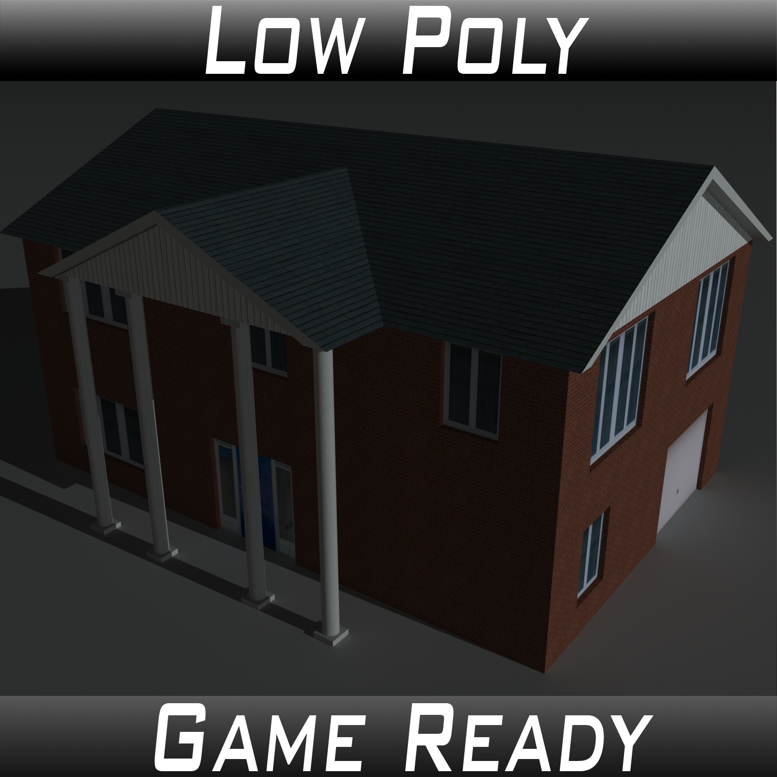 Low Poly House 8 - Extended Licence