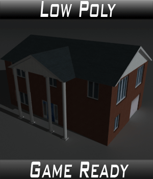 Low Poly House 8 - Extended Licence 3D Game Models : OBJ : FBX 3D Models Extended Licenses 3dlands