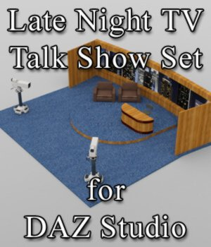Late Night TV Show Set - for DAZ Studio  3D Models VanishingPoint