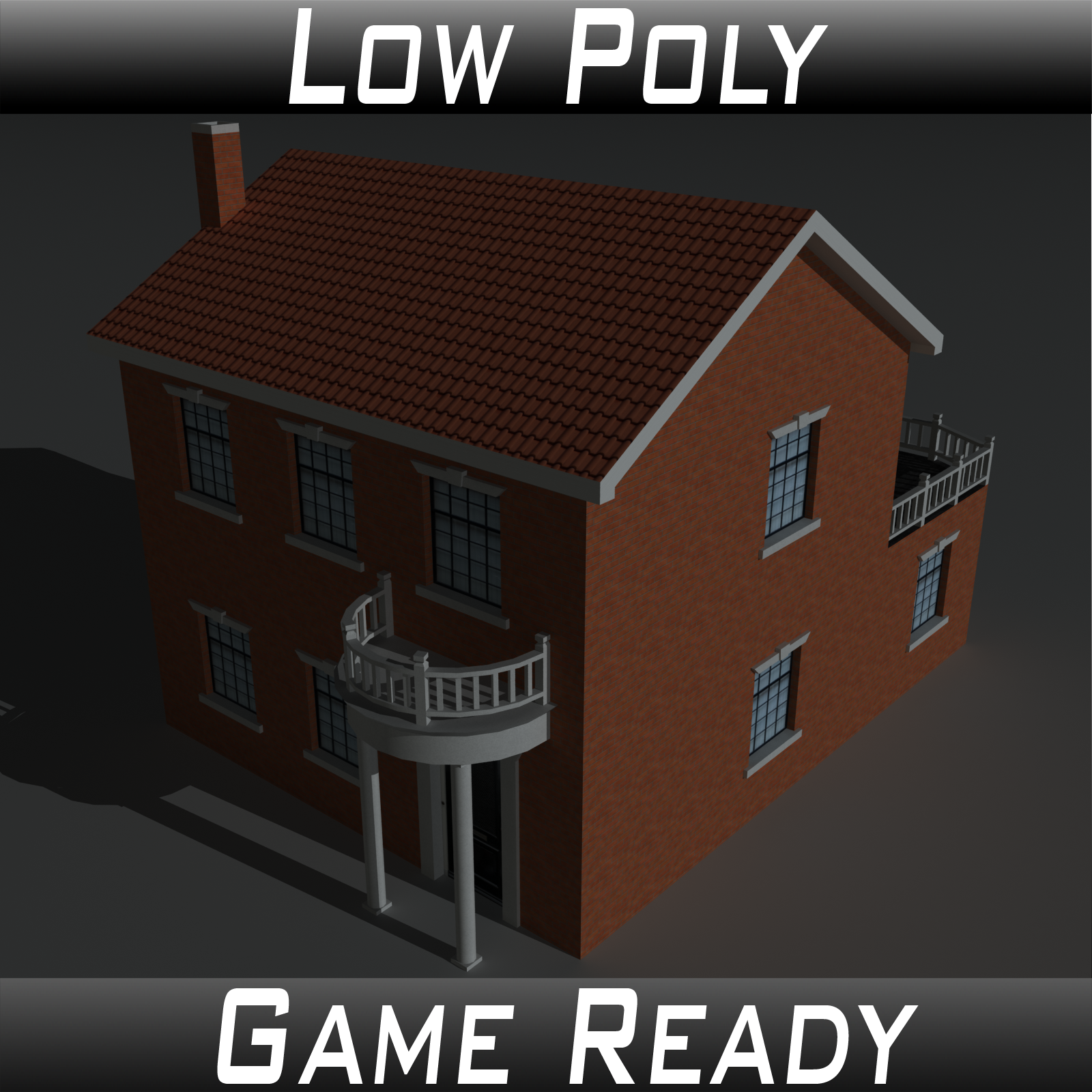 Low Poly House 9 - Extended Licence by 3dlands