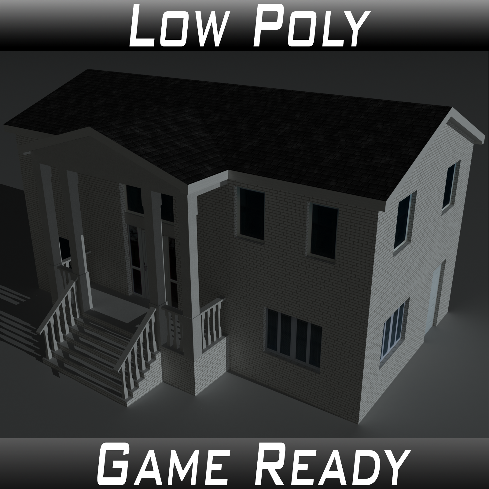 Low Poly House 10 - Extended Licence
