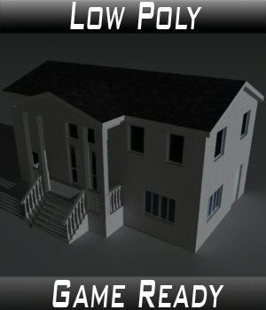 Low Poly House 10 - Extended Licence 3D Game Models : OBJ : FBX 3D Models Extended Licenses 3dlands