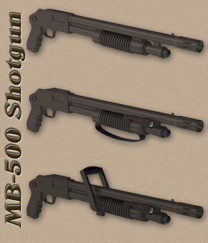 MB-500 Shotgun Set 3D Models Richabri