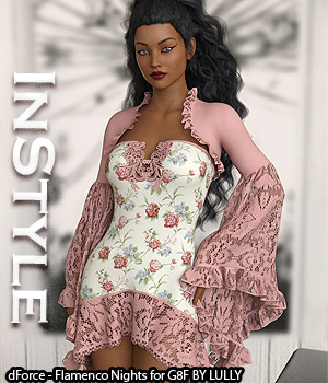 InStyle - dForce - Flamenco Nights for G8F 3D Figure Assets -Valkyrie-