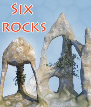 Six rocks 3D Models 1971s