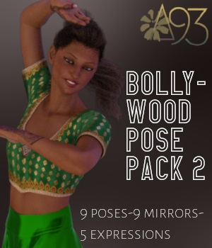 Bollywood Pose Pack 2 3D Figure Assets anjeli93