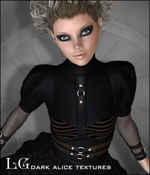 RP Dark Alice - Little Goth Textures 3D Figure Assets digiPixel