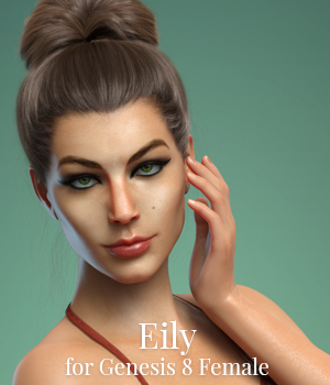 Eily for Genesis 8 Female 3D Figure Assets MoyKot