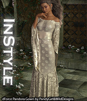 InStyle - dForce Pandora Gown 3D Figure Assets -Valkyrie-