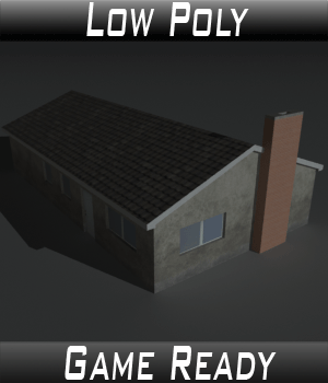 Low Poly House 11 - Extended License 3D Game Models : OBJ : FBX 3D Models Extended Licenses 3dlands