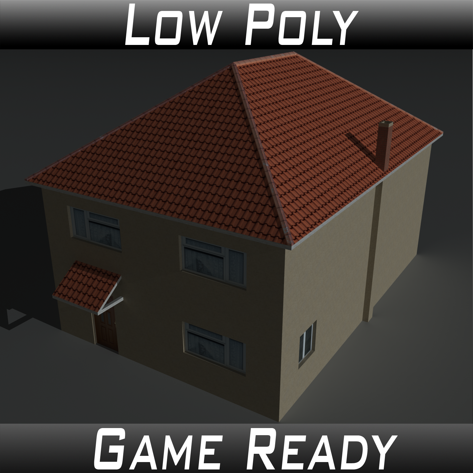 Low Poly House 12 - Extended License
