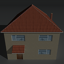 Low Poly House 12 - Extended License image 1