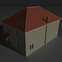 Low Poly House 12 - Extended License image 2