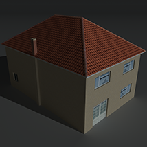 Low Poly House 12 - Extended License image 4