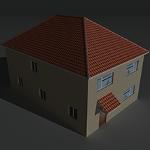 Low Poly House 12 - Extended License image 8