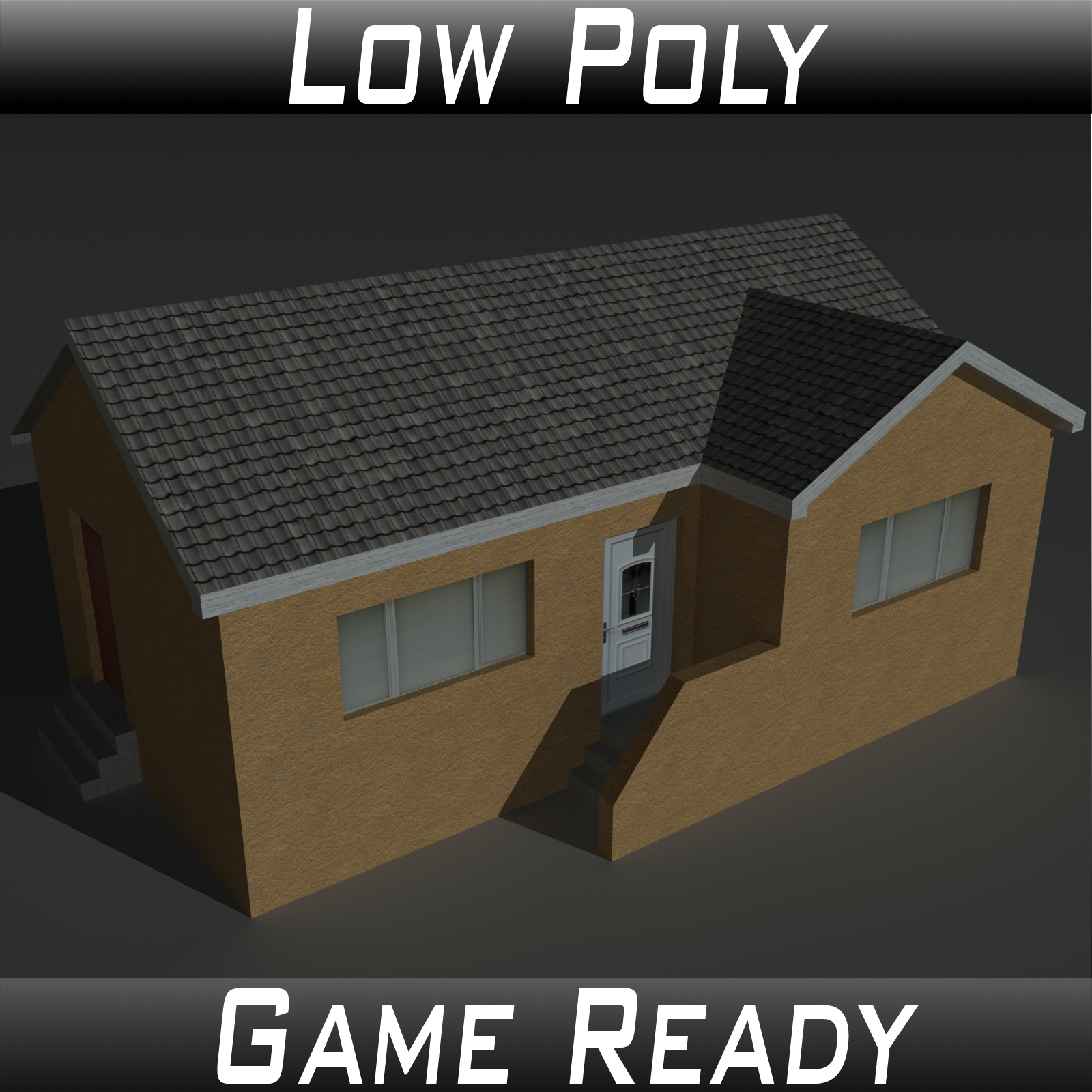 Low Poly House 13 - Extended License