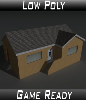 Low Poly House 13 - Extended License 3D Game Models : OBJ : FBX 3D Models Extended Licenses 3dlands
