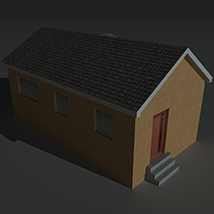 Low Poly House 13 - Extended License image 6