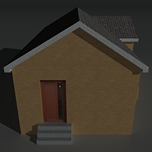 Low Poly House 13 - Extended License image 7