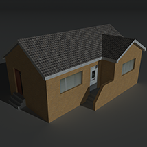 Low Poly House 13 - Extended License image 8