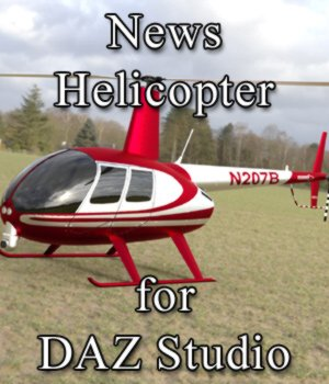 News Helicopter - for DAZ Studio  3D Models VanishingPoint
