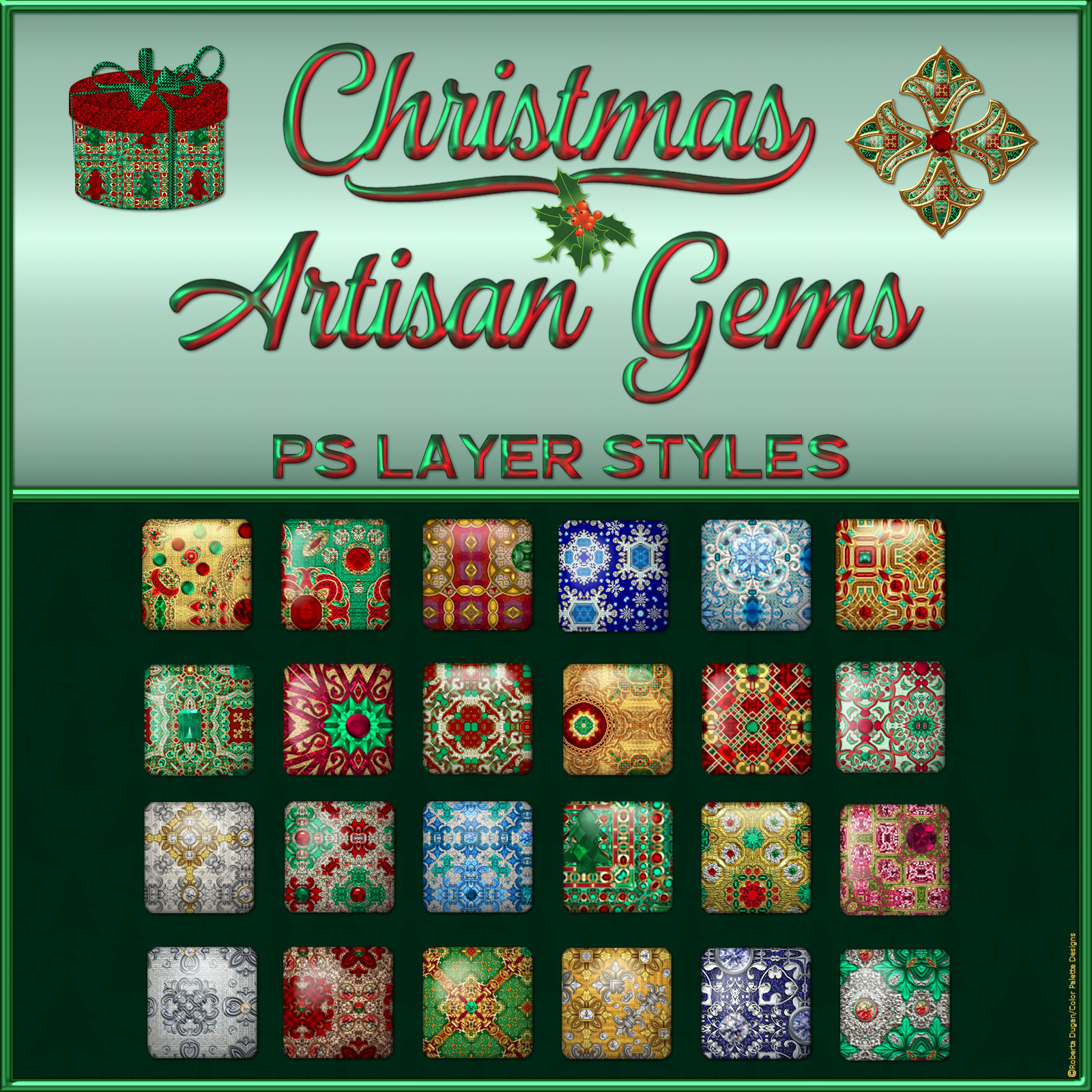 Christmas Artisan Gems PS Layer Styles