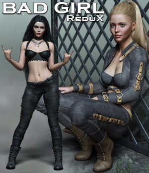 Bad Girl ReduX 3D Figure Assets Rhiannon