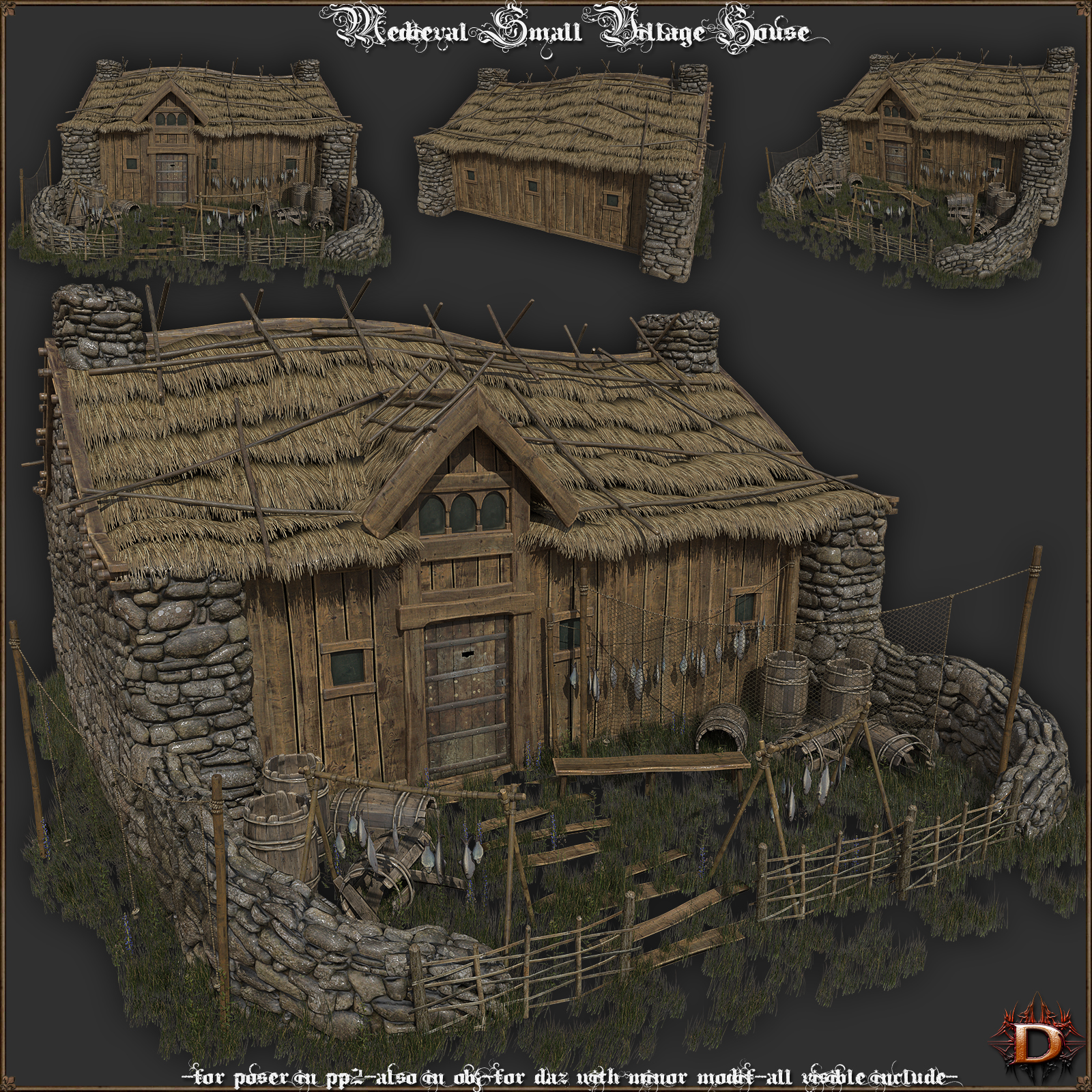 Medieval Small Village House1 by Dante78