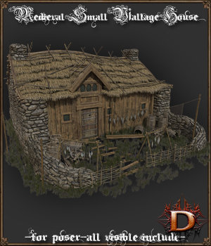 Medieval Small Village House1 3D Models Dante78