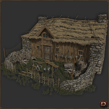 Medieval Small Village House1 image 1