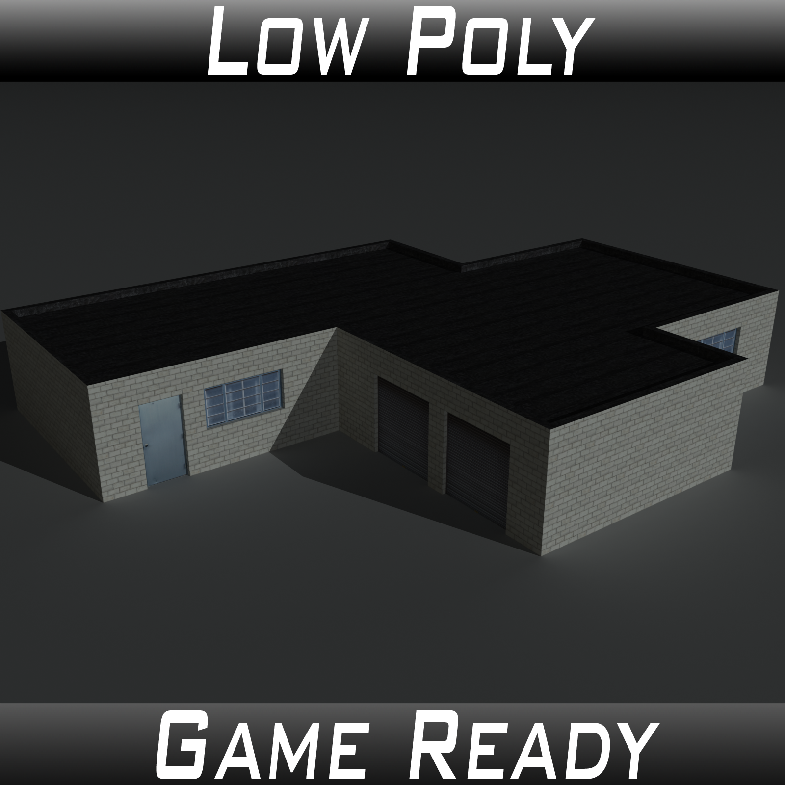 Low Poly Factory Building 1 - Extended Licence