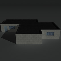 Low Poly Factory Building 1 - Extended Licence image 1