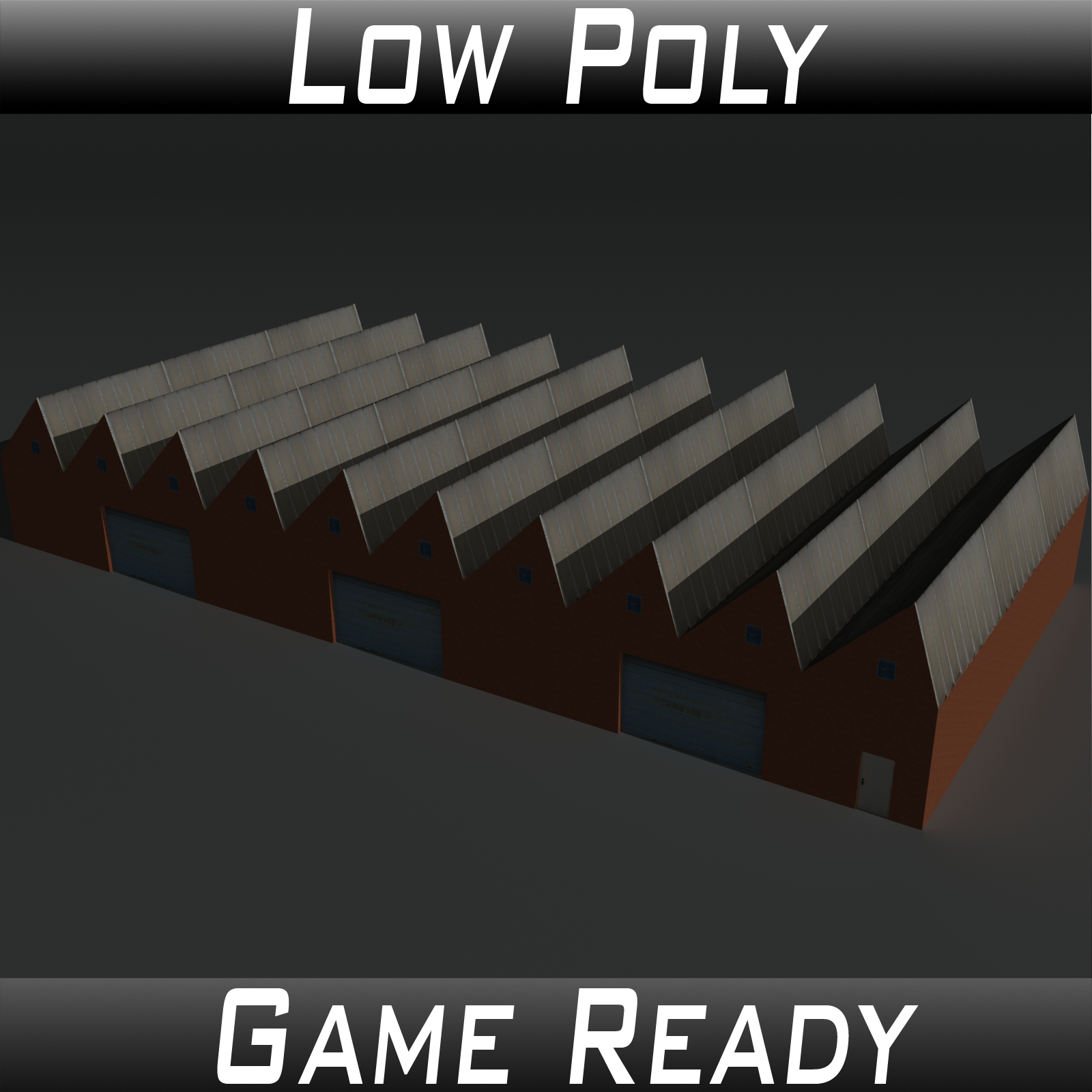 Low Poly Factory Building 2 - Extended Licence