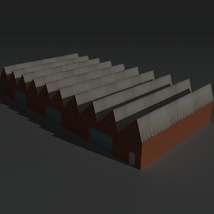 Low Poly Factory Building 2 - Extended Licence image 2