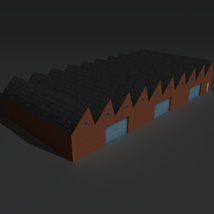 Low Poly Factory Building 2 - Extended Licence image 8