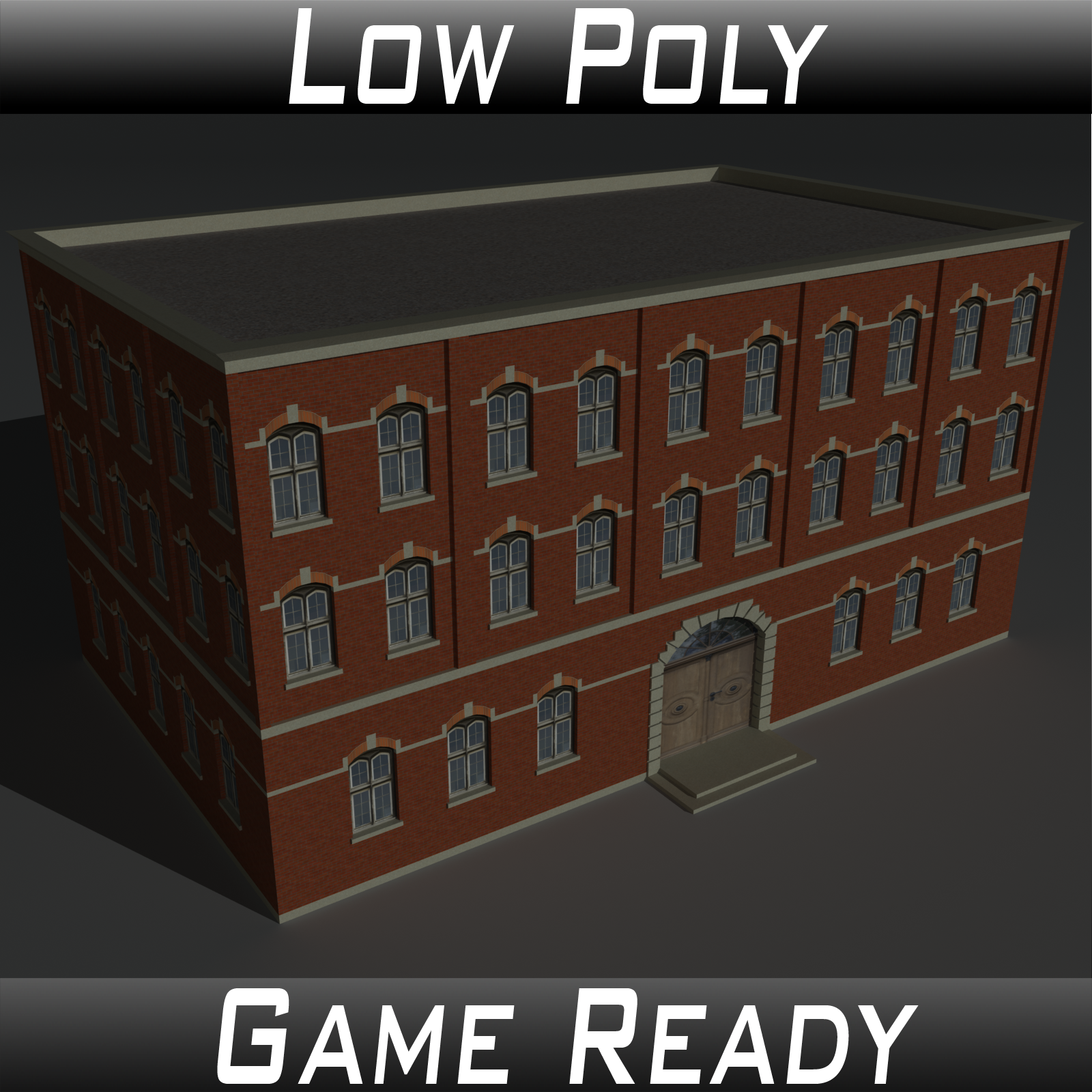 Low Poly Factory Building 4 - Extended Licence by 3dlands