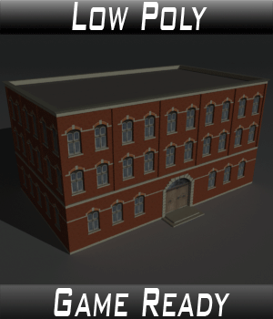Low Poly Factory Building 4 - Extended Licence 3D Game Models : OBJ : FBX 3D Models Extended Licenses 3dlands