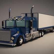Low-Poly Cartoon Lorry Truck image 1
