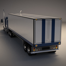 Low-Poly Cartoon Lorry Truck image 2