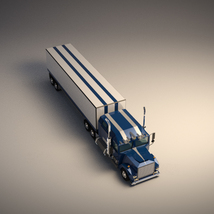 Low-Poly Cartoon Lorry Truck image 4