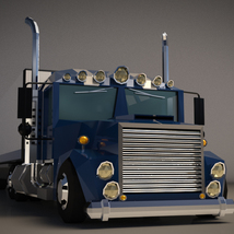 Low-Poly Cartoon Lorry Truck image 5