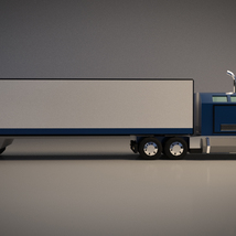 Low-Poly Cartoon Lorry Truck image 6
