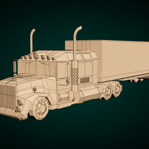 Low-Poly Cartoon Lorry Truck image 7