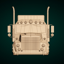 Low-Poly Cartoon Lorry Truck image 8