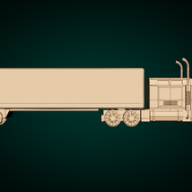Low-Poly Cartoon Lorry Truck image 9